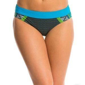 Prana Ramba Bikini Bottoms Vivid Blue Panama NWT